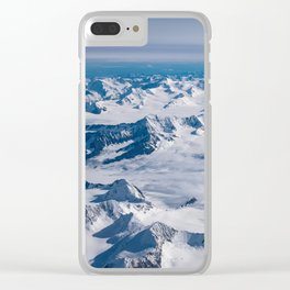 Aerial Glacier Four - Alaska Clear iPhone Case
