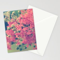 Pink Crape Myrtle Flowers Stationery Cards