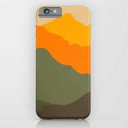 Sunset geometric landscape iPhone Case