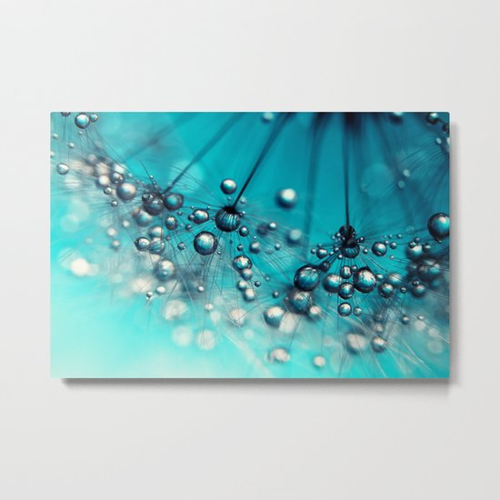 Sea Blue Shower Metal Print
