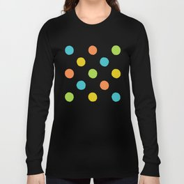 Colorful rough polka dot pattern Long Sleeve T-shirt