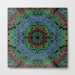 Boho Vibe Festival Psychedelic Hippie Bohemian Yoga Mantra Meditation Metal Print