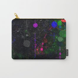 Digital Artist Textured Paint Splash Abstract Carry-All Pouch
