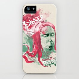 "Iggy Pop ""Gimme Danger"" - The Punk Loons. iPhone Case"