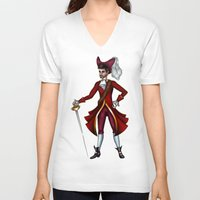 captain hook V-neck T-shirts featuring Captain Hook by Callie Clara