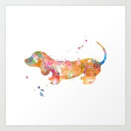 Colorful Dachshund Art Print