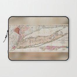 Long Island New York 1842 Mather Map Laptop Sleeve