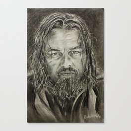 ‪‎Revenant‬ ‪‎Leonardo DiCaprio‬ new big pastel PORTRAIT by Valery ‎Rybakow Canvas Print
