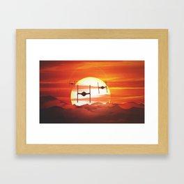 Twin Ion Engine Haze Framed Art Print