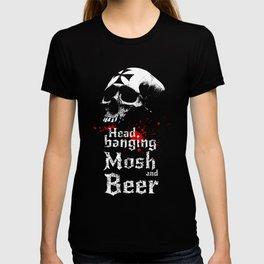 Headbanging-Beer-Skull-Metal-Rock-Music T-shirt