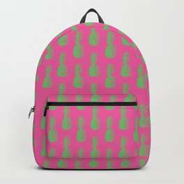 Pineapples - Pink & Green #464 Backpack