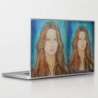 jennifer lawrence Laptop & iPad Skins featuring Jennifer Lawrence by Jenn