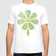 The Motherlucker - Golden SMALL White Mens Fitted Tee
