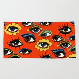60s Eye Pattern Beach Towel