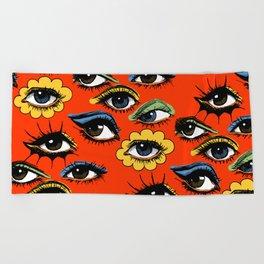 60s Eye Pattern Beach Towel