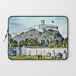 12,000pixel-500dpi -Nathaniel Currier - Military College of Chapultepec - Digital Remastered Edition Laptop Sleeve