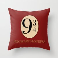 harry potter Throw Pillows featuring HARRY POTTER by Sophie