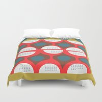 50s Duvet Covers featuring 2013 retro calendar by ottomanbrim