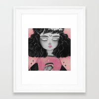 loll3 Framed Art Prints featuring Beverly by lOll3