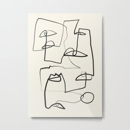 Abstract line art 12 Metal Print