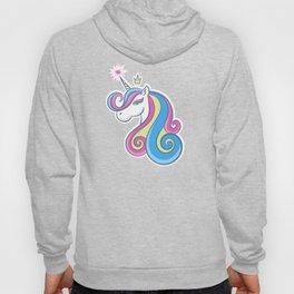 Pattern unicorn, little princess Hoody
