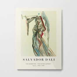 "Poster-Salvador Dali-The Exhibition ""The Divine comedy"" 3. Metal Print"