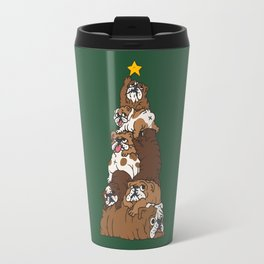 Christmas Tree English Bulldog Travel Mug