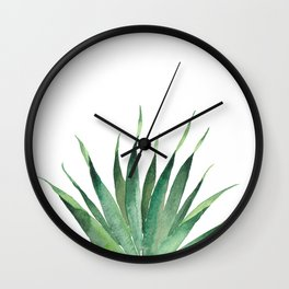 Tropical Palm Leaf #4 | Watercolor Painting Wall Clock