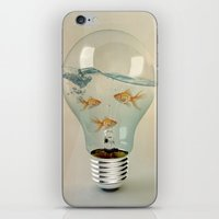 street iPhone & iPod Skins featuring ideas and goldfish 03 by Vin Zzep