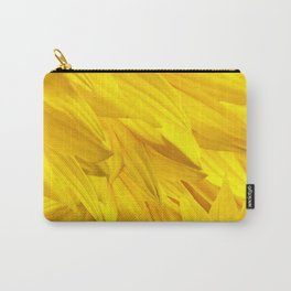 Sunflower Petals Monochrome Yellow Color #decor #society6 #buyart Carry-All Pouch