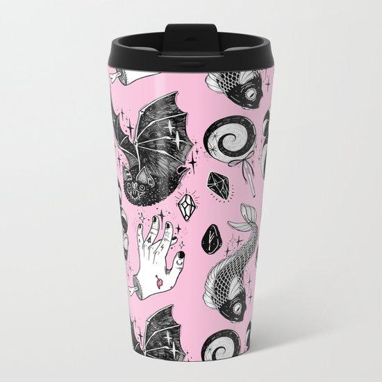 Pink Magic Metal Travel Mug
