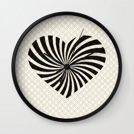 Gold Black White Great Gatsby Heart Wall Clock