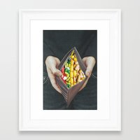 pills Framed Art Prints featuring pills by marzesu collages