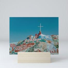 Salvation Mountain in California on a Sunny Day Mini Art Print