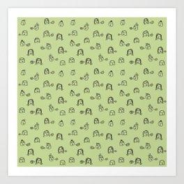 Chatty Lime Art Print