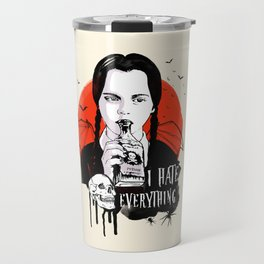 Wednesday The Addams family art Travel Mug