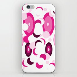 pink purple planets and moons iPhone Skin