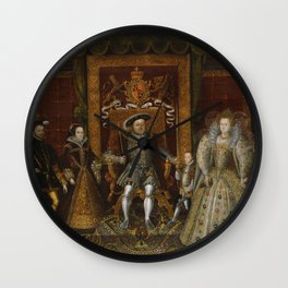 The family of Henry VIII Wall Clock