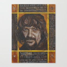 Waylon Jennings Canvas Print