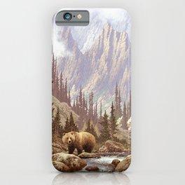 Grizzly Bear Landscape iPhone Case