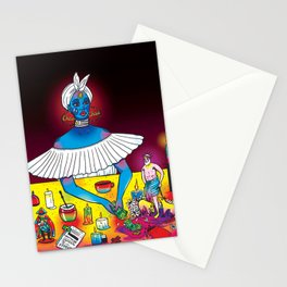 Lucia Prays to San Lorenzo Stationery Cards