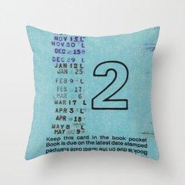 Ilium Public Library Card No. 2 Throw Pillow