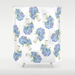 Blue Hydrangea, Still Life Shower Curtain