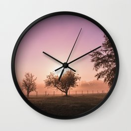 Sunrise in the Country Wall Clock