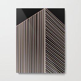 Lines building at night Metal Print