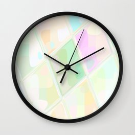 Re-Created Mirrored SQ LIX by Robert S. Lee Wall Clock