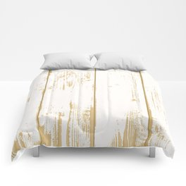 Rustic wooden texture. White and gold antique wood. Comforters