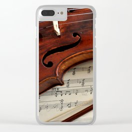 Old violin Clear iPhone Case