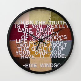 """The Truth Is"" Wall Clock"