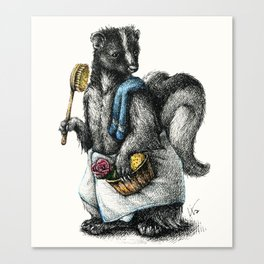 Portrait of Mr. Skunk Canvas Print